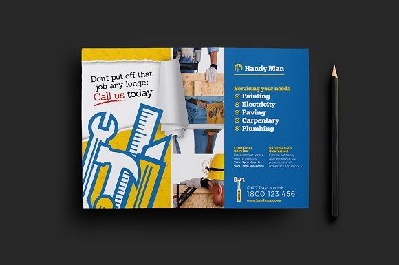 Handyman Flyer Template v2 Vs, Flyer template and Template