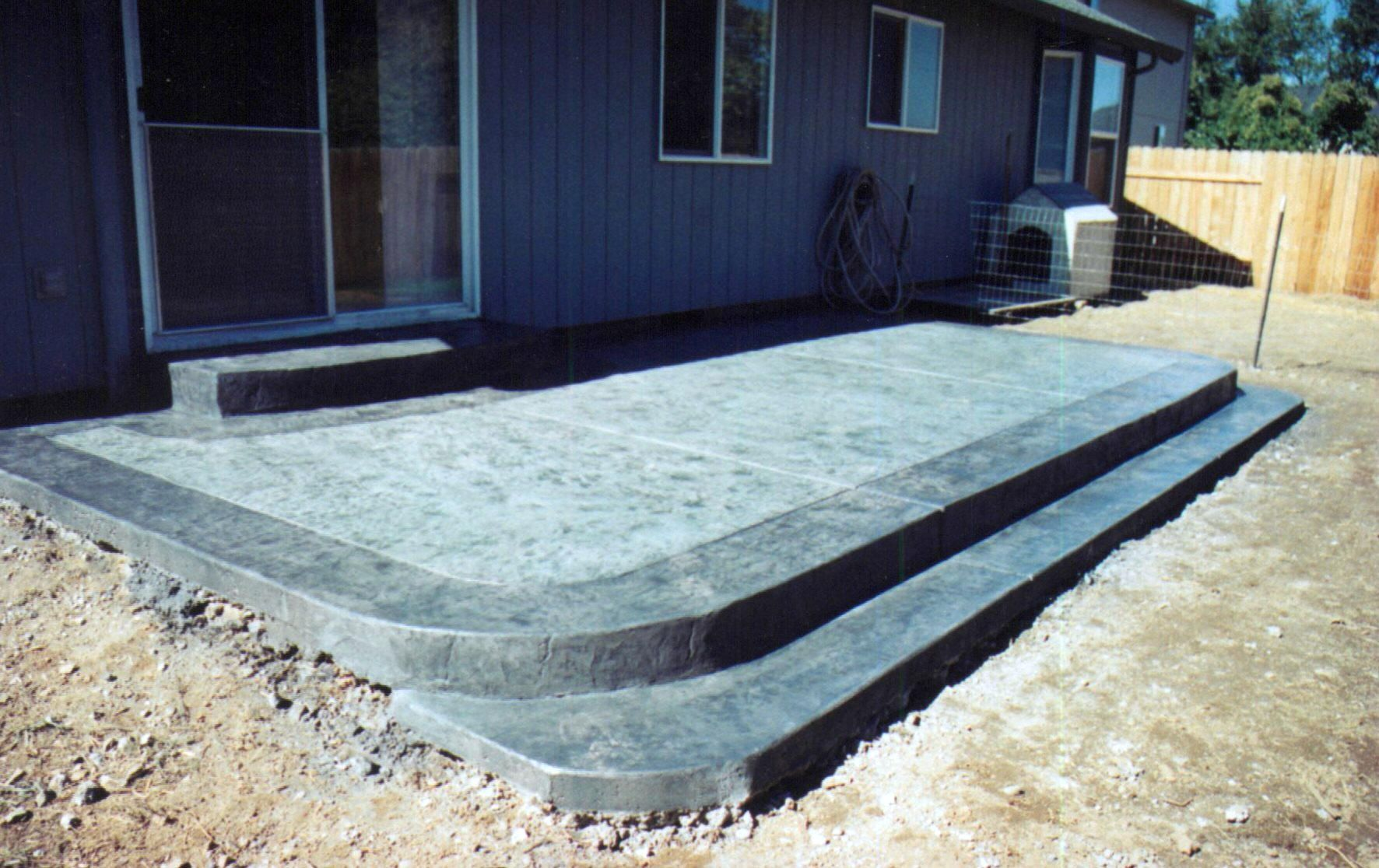 Patio Ideas | Patio Slabs ~ Patio Design Photos ~ Decorative Concrete Patio