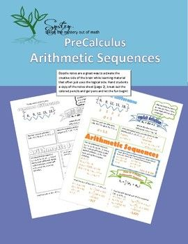 Students Learn The Explicit Definition For An Arithmetic Sequence. They  Also Learn How To Find