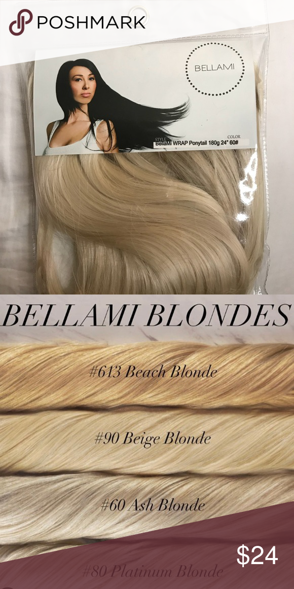 "e13b1a4dc7 BELLAMI PONYTAIL - ASH BLONDE Color  Ash Blonde  60 FAUX PONY TAIL 24"" 180g  NEVER USED Accessories Hair Accessories"