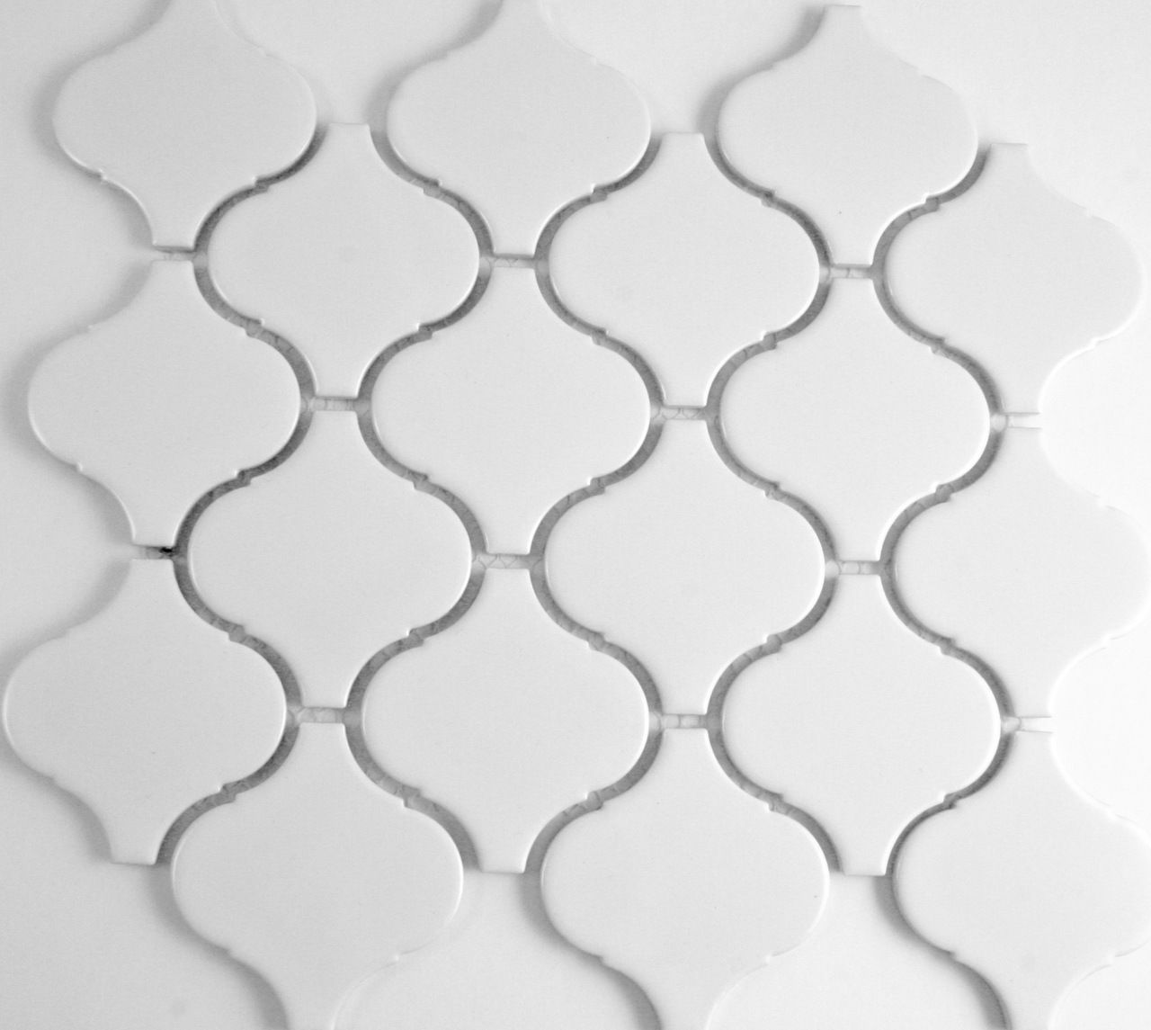 Arabesque White Matt Porcelain Mosaic Porcelain Mosaic