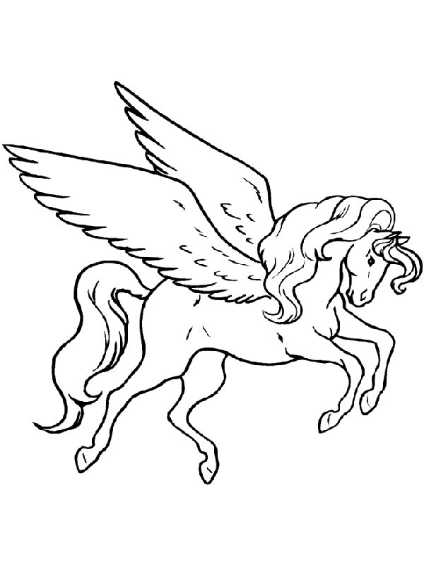 Pegasus Image Coloring Page Kids Play Color Horse Coloring Pages Unicorn Coloring Pages Dragon Coloring Page