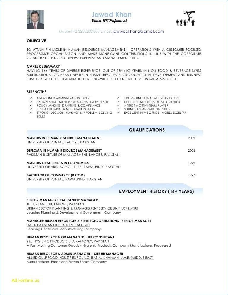 Resume for Career Change with No Experience Cool and