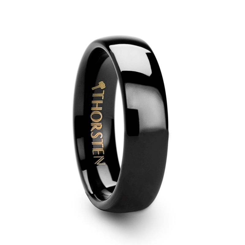 Raven Domed Black Tungsten Wedding Ring 4mm 12mm Black Tungsten Rings Black Tungsten Carbide Ring Black Tungsten Wedding Ring