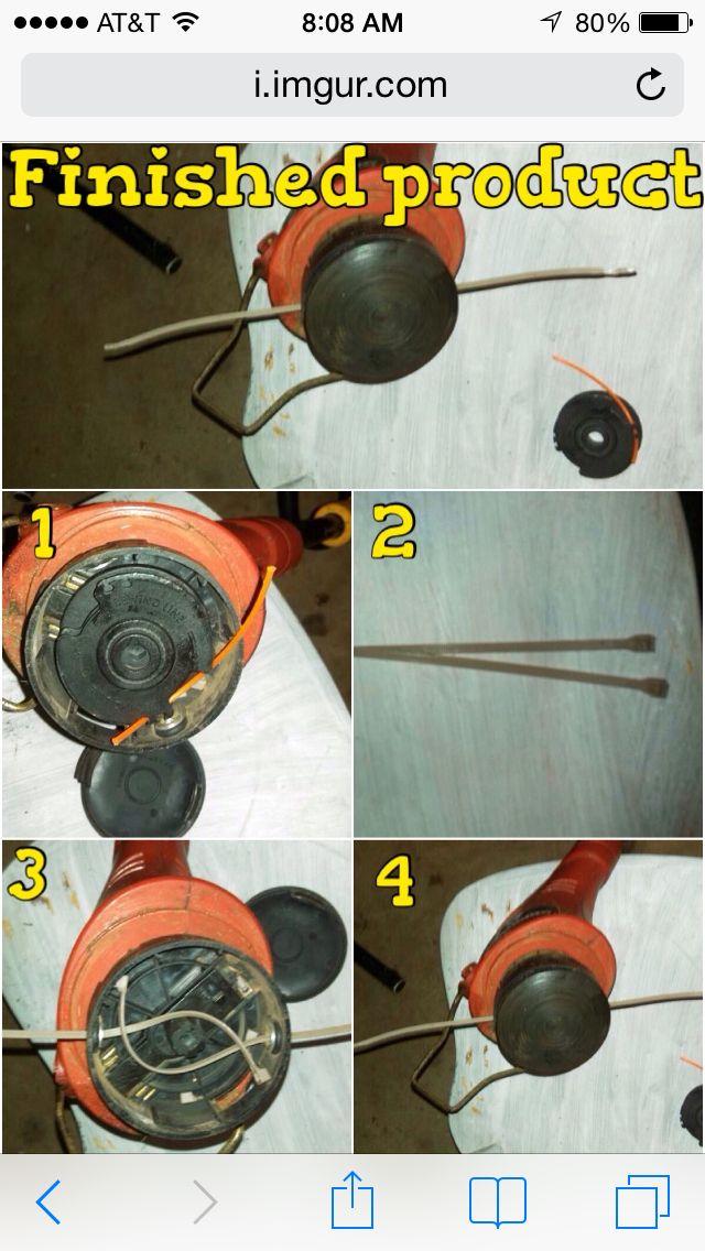 Weedeater string using zip ties genius hack in a pinch weedeater string using zip ties genius hack in a pinch keyboard keysfo Images