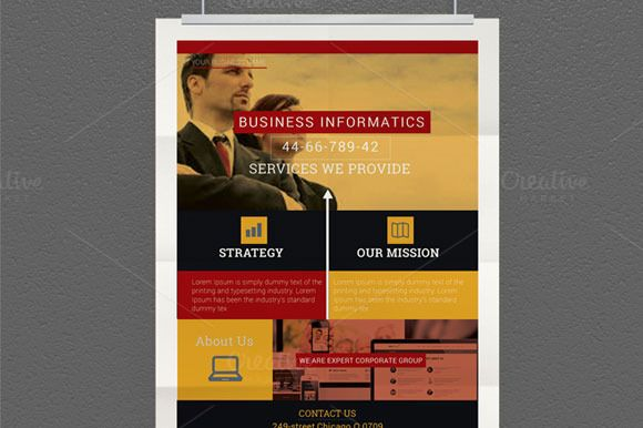 Corporate Flyer Design Template – Flyer Samples Templates
