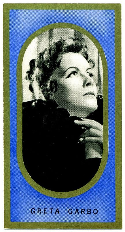 Cigarette Card - Greta Garbo