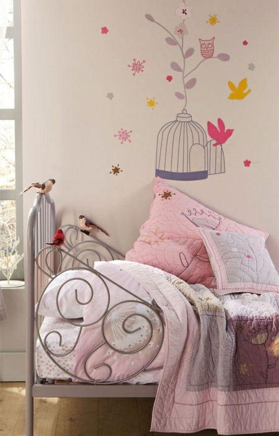 romantic pink kids room vintage style / Romántica habitación - estilo vintage decoracion
