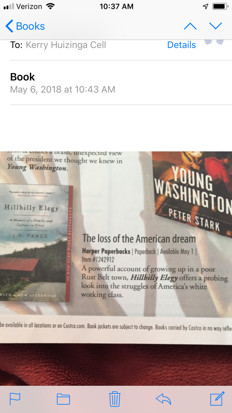 Pin By Kerry Malott Huizinga On Books Hillbilly Elegy Books American Dream
