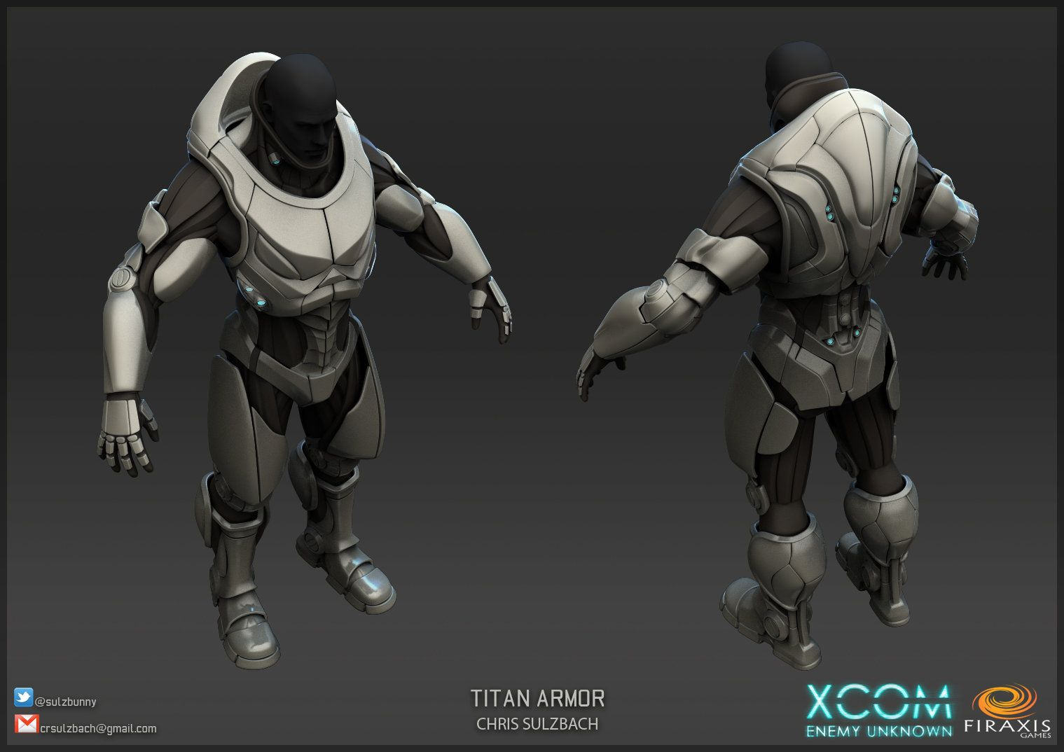 xcom: enemy unknown titan armor, chris sulzbach on artstation at