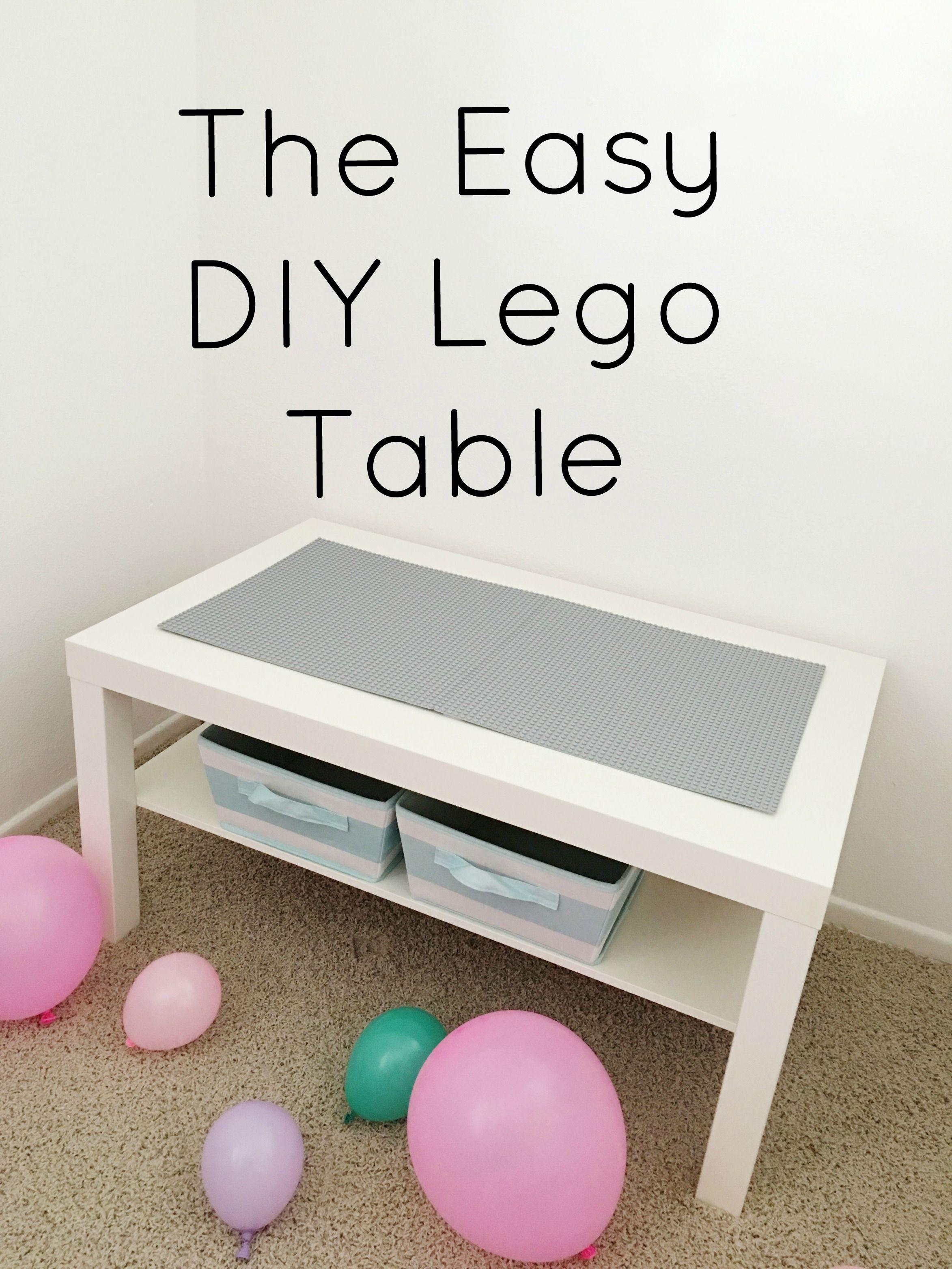 Diy lego coffee table - The Easiest Diy Lego Table All You Need Ikea Coffee Table Lego Baseplates Velcro
