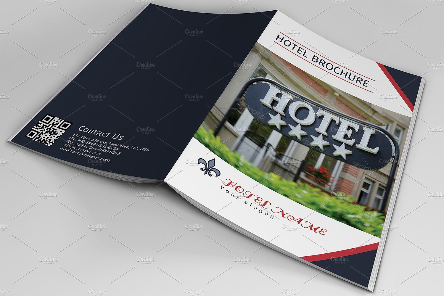 Hotel Brochure Template V By Template Shop On Creativemarket - Hotel brochure template