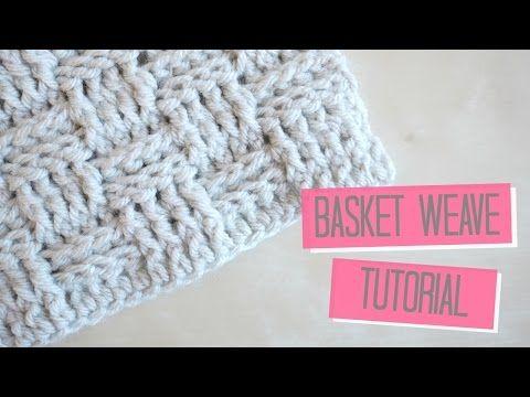 CROCHET: Basket weave tutorial | Bella Coco - YouTube | Crochet ...
