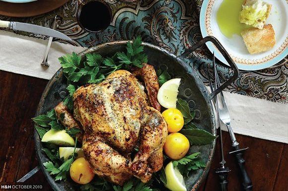 thanksgiving truffle-scented roast chicken