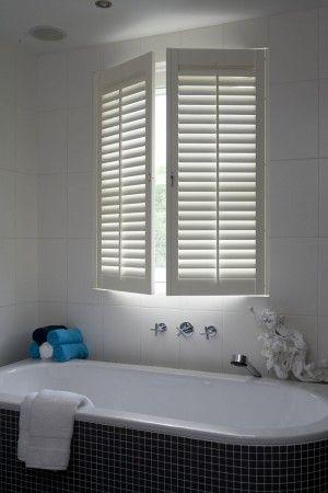 shutters in bathroom at welke.nl | badkamer | Pinterest