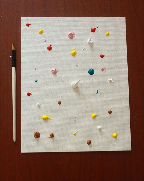 Manualidad infantil haz un cuadro de arte abstracto - Pintar cuadros faciles ...
