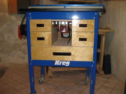 Enclosed kreg router table for the workshop pinterest kreg enclosed kreg router table greentooth Choice Image