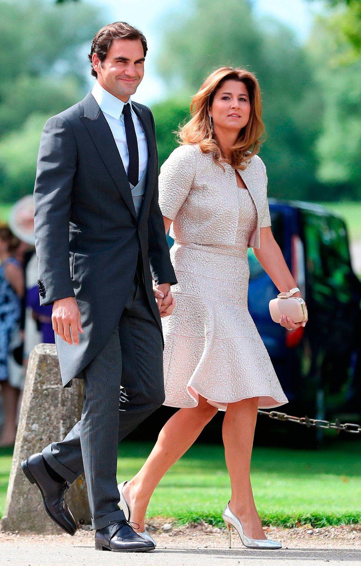 Roger Federer and Mirka Federer at Pippa Middletons wedding