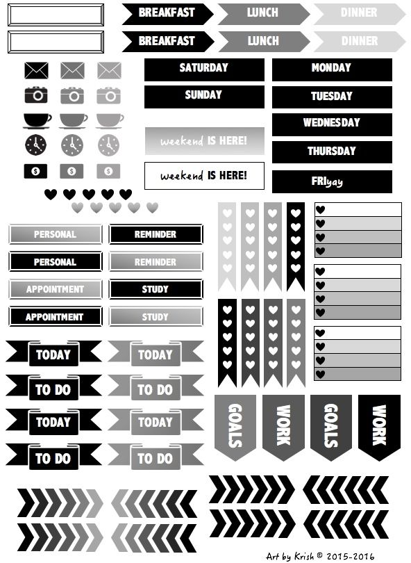 Black And White And Gray Stickers Here Are Some Printables For Your