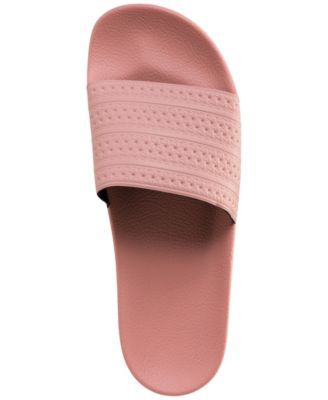 adidas Men\u0027s Adilette Slide Sandals from Finish Line - Pink 13