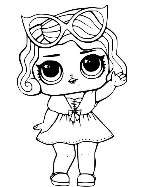 Desenhos para colorir Boneca lol | Kind