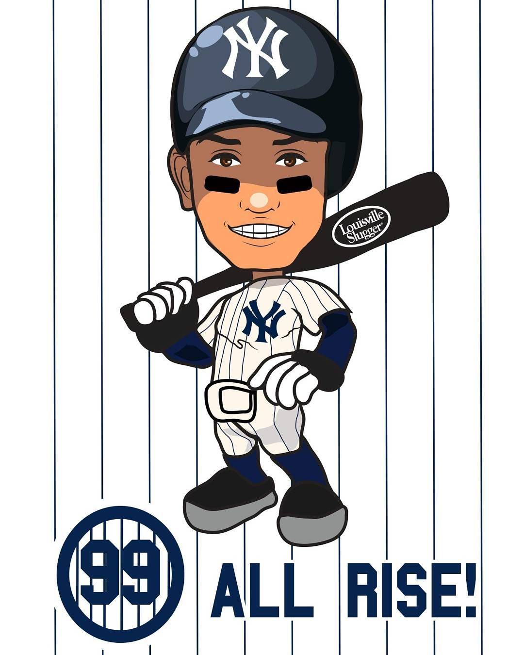 New York Yankees 99 Aaron Judge Nyy Newyorkyankees Newyork Yankees 99 Rightfielder Icon Rookie Right Yankees Poster New York Yankees New York Yankees Baseball
