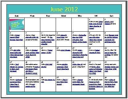 Thrilled to be featured on Motherhood on a Dimeu0027s FREE Download - activity calendar