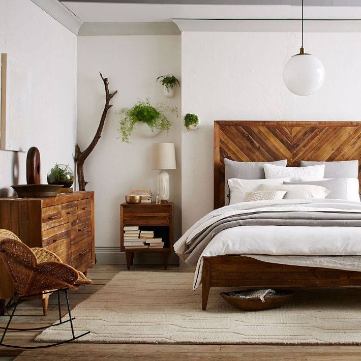 Natural Bedroom Decorating Ideas: West Elm. Love The Clean Lines And Earthy
