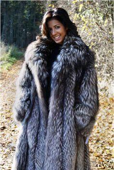 silver fox parka hooded - Google Search | Fur Coats | Pinterest ...
