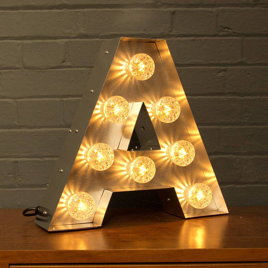 Tin Letters With Lights Adorable Light Up Marquee Bulb Letters A To Z  Bulbs Lights And Bedrooms Design Ideas