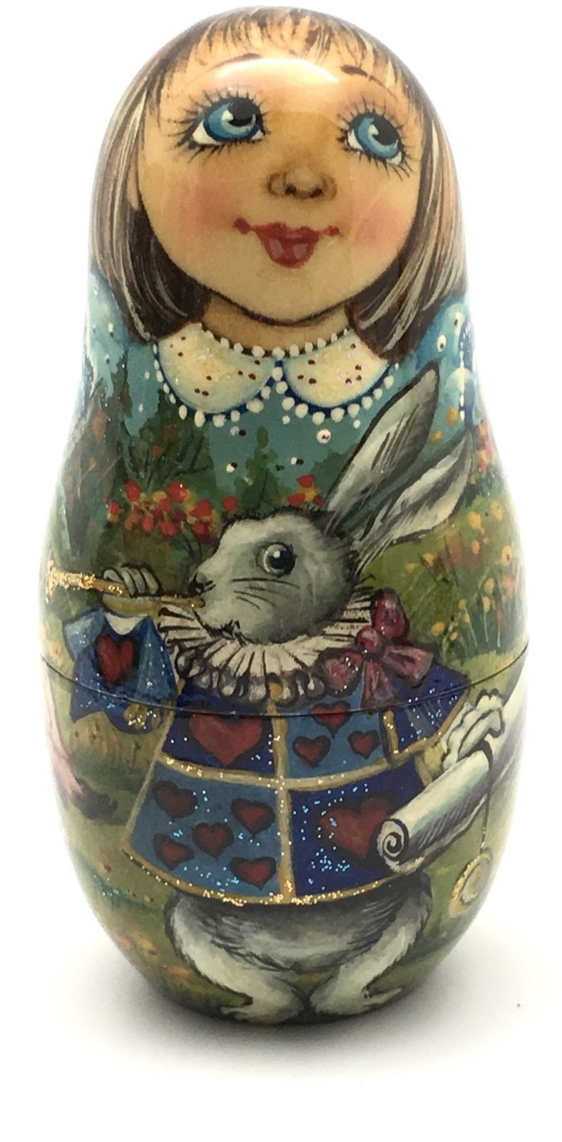 This russian nesting doll which I would like to present to you is unique and one of the kind. The fantastic world ofAlice in Wonderland is presented on this hand painted 7 piece set. All of your favorite characters from the story are pictured here. | eBay!