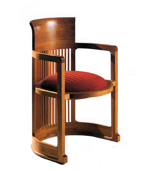 Image detail for Chair Barrel F.L. Wright, 1937