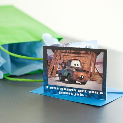 Let Dad know that he's tow-tally awesome with Mater's Father's Day card!