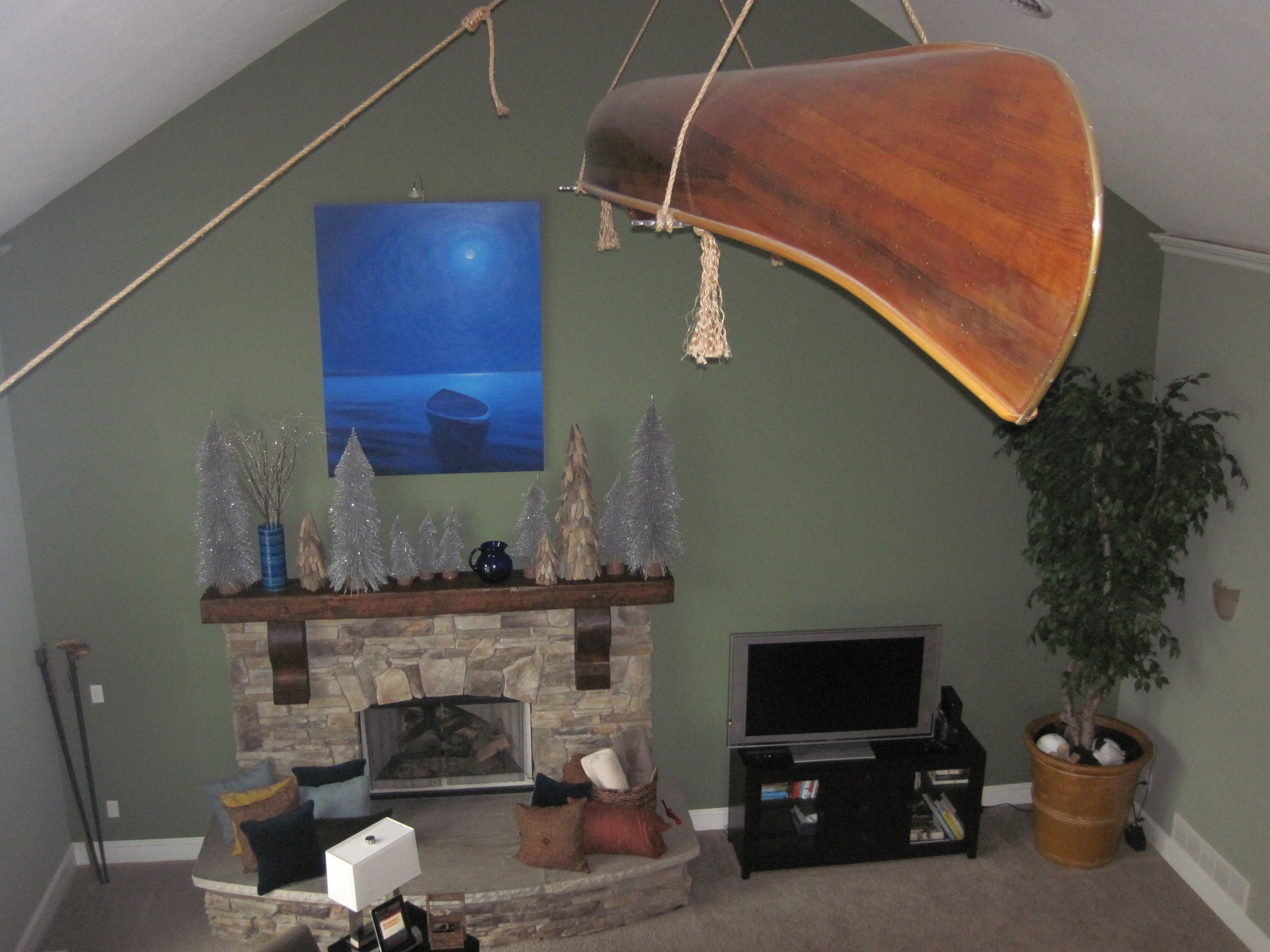 Hanging Canoe From Ceiling