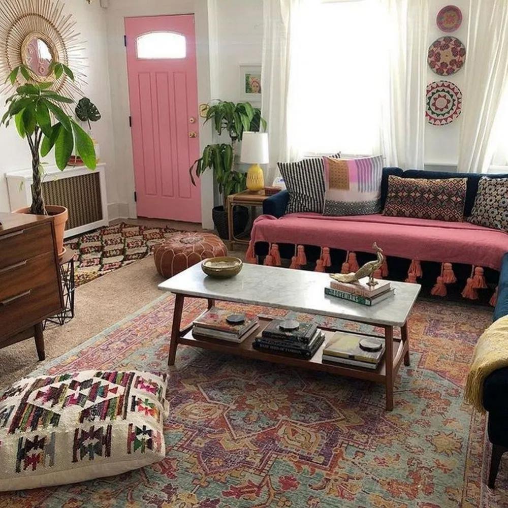 9 fabulous colorful bohemian living room decorating ideas 9