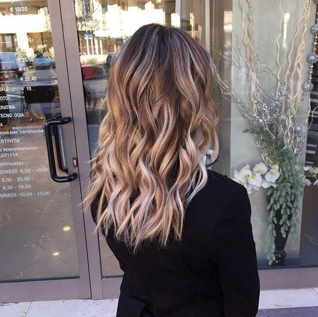 Platinum Balayage On Dark Hair