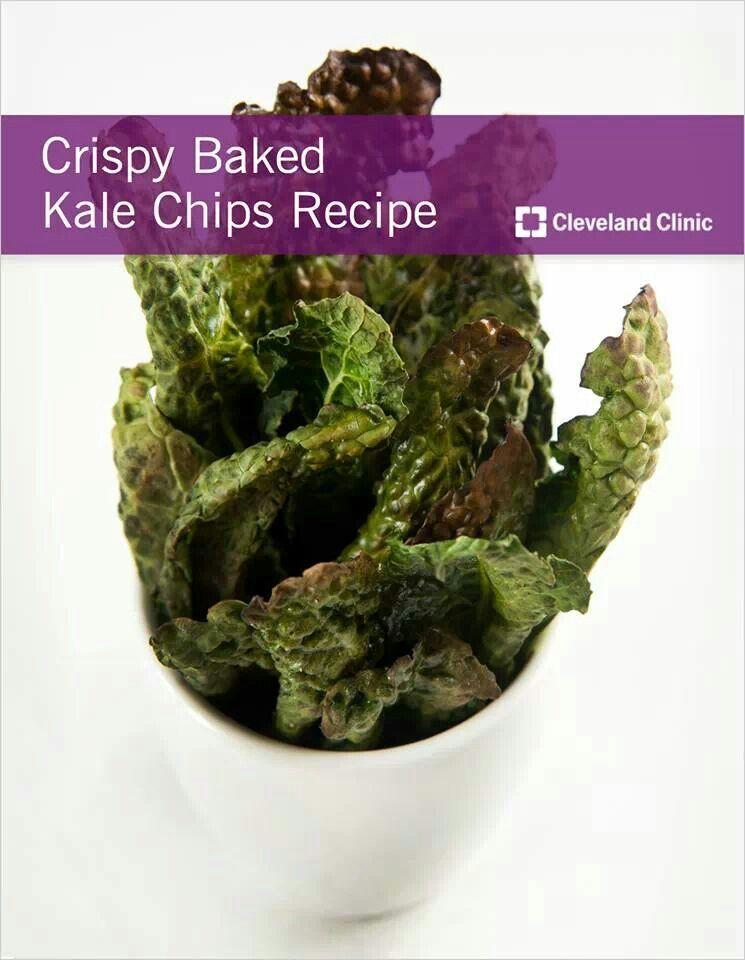 Crispy baked kale chips | Food | Pinterest