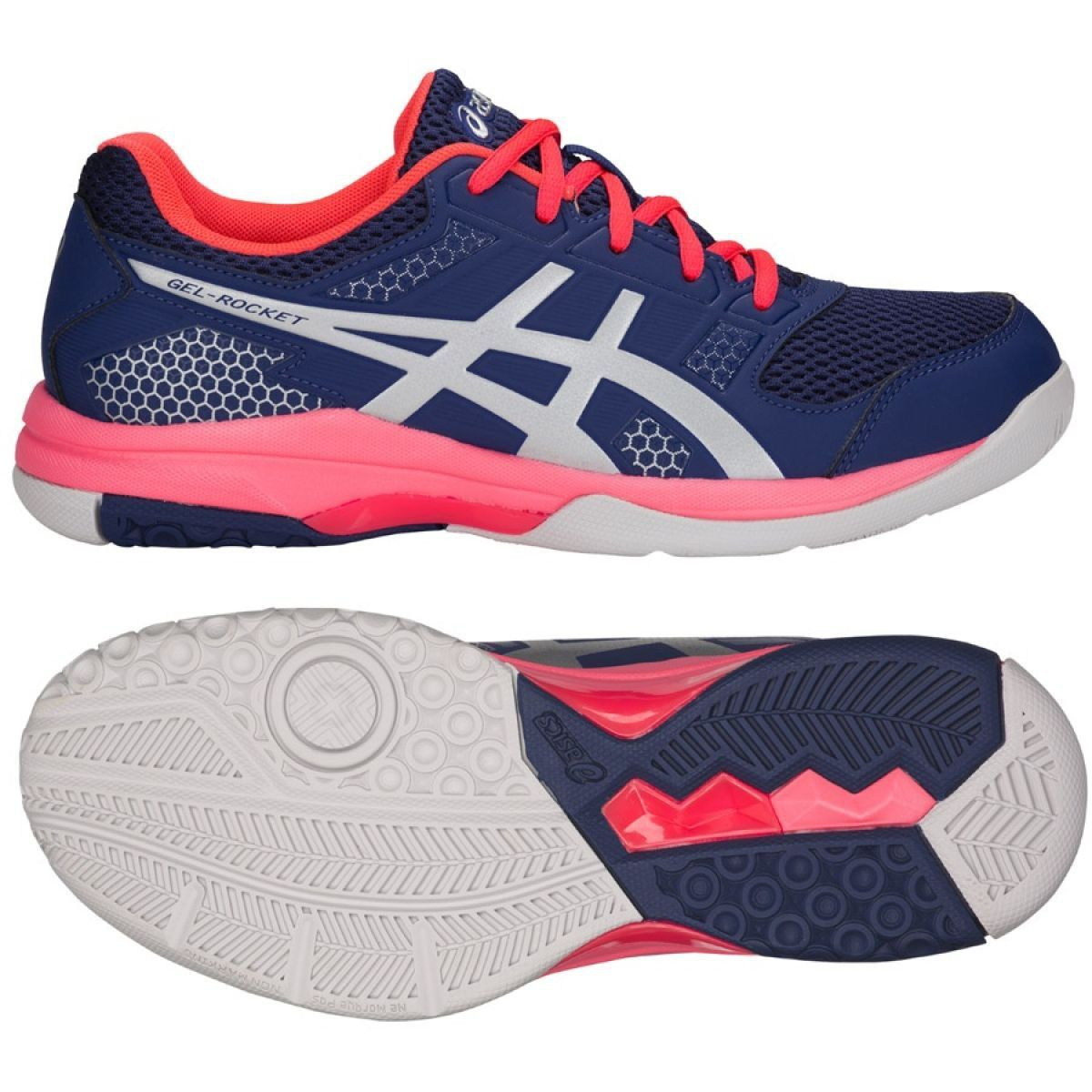 Volleyball Shoes Asics Gel Rocket 8 W B756y 400 Navy Navy Volleyball Shoes Womens Athletic Shoes Asics