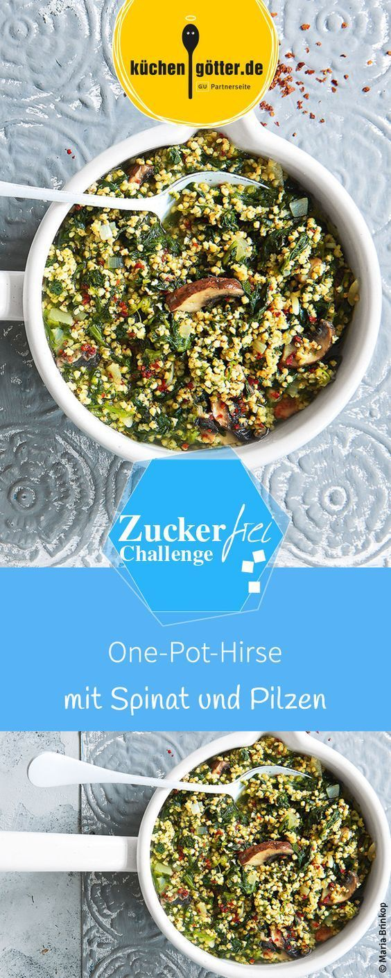 Photo of One-pot millet with spinach and mushrooms