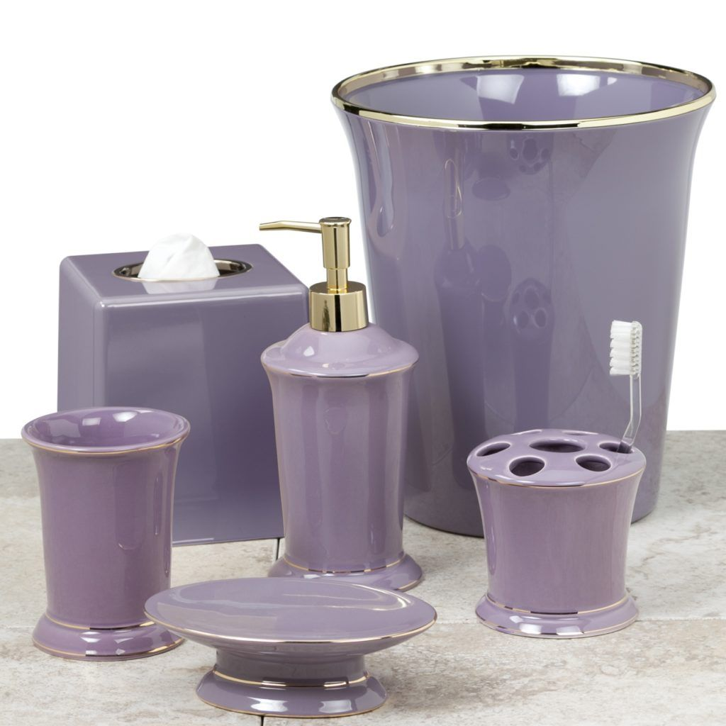 Bathroom Accessories Purple Lavender Cnder Lilac