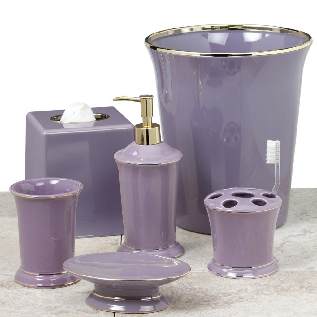 Bathroom Accessories Purple Lavender
