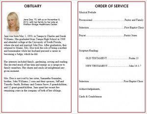 Printable Funeral Service Program Templates - Cards, memorial ...