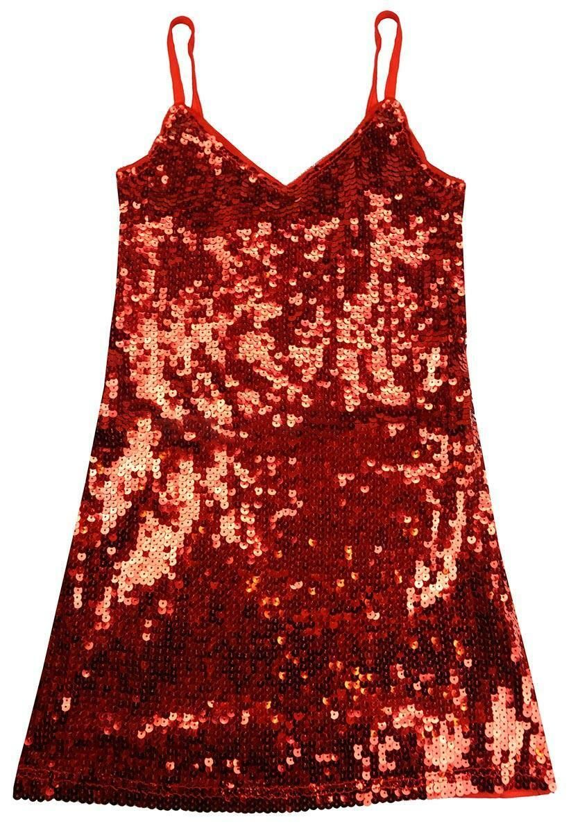 Girls Strappy Sequin Sparkle Front Glitzy Disco Party Fashion Dress 3 - 12 Years $23.32 #fitness #sm...