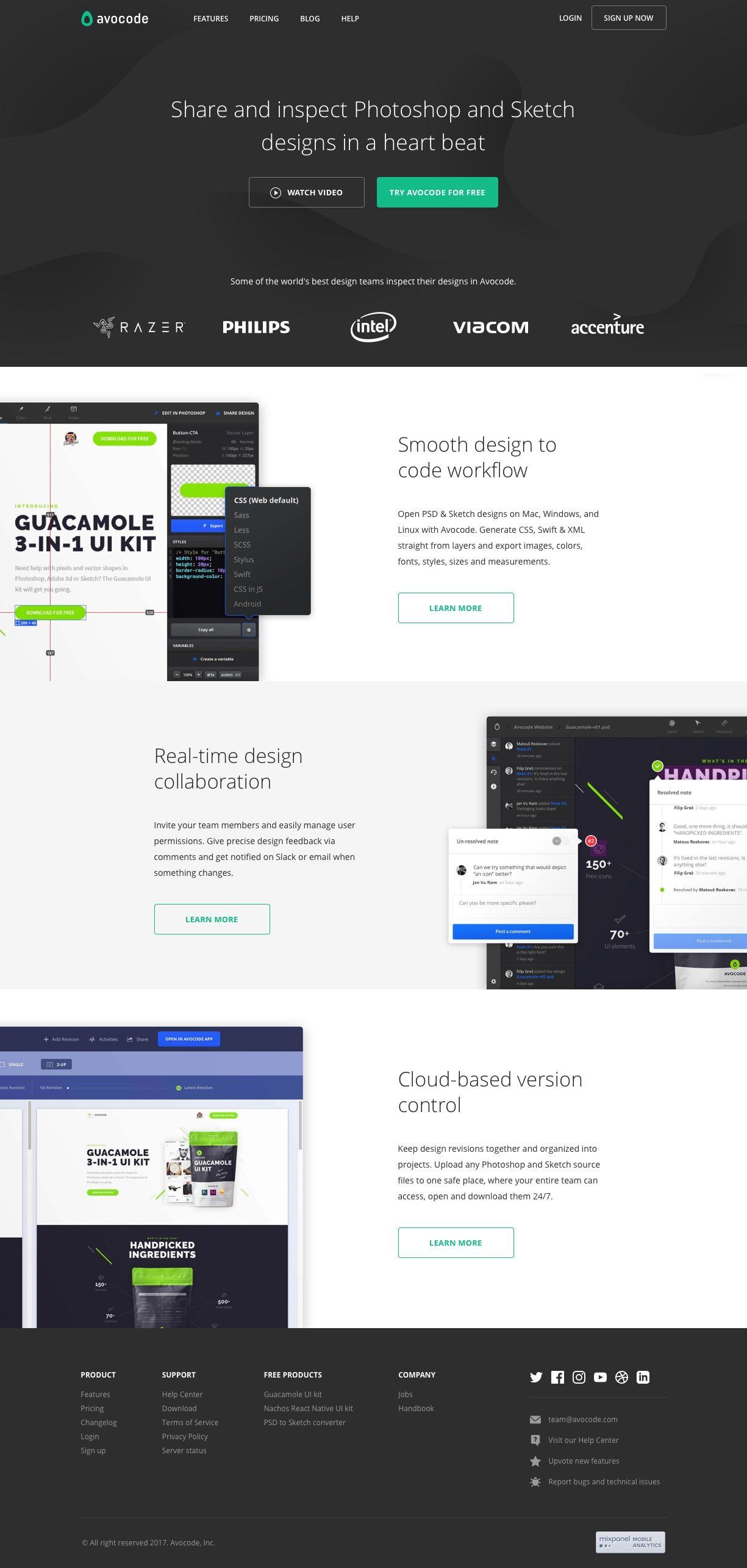 Avocode Real Time Design Collaboration Landing Page Design Best Landing Page Design Page Design