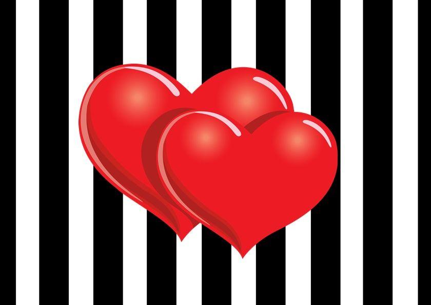 Imagens para imprimir- plano de fundo listrado preto e branco - coração-  Blog Dikas e diy