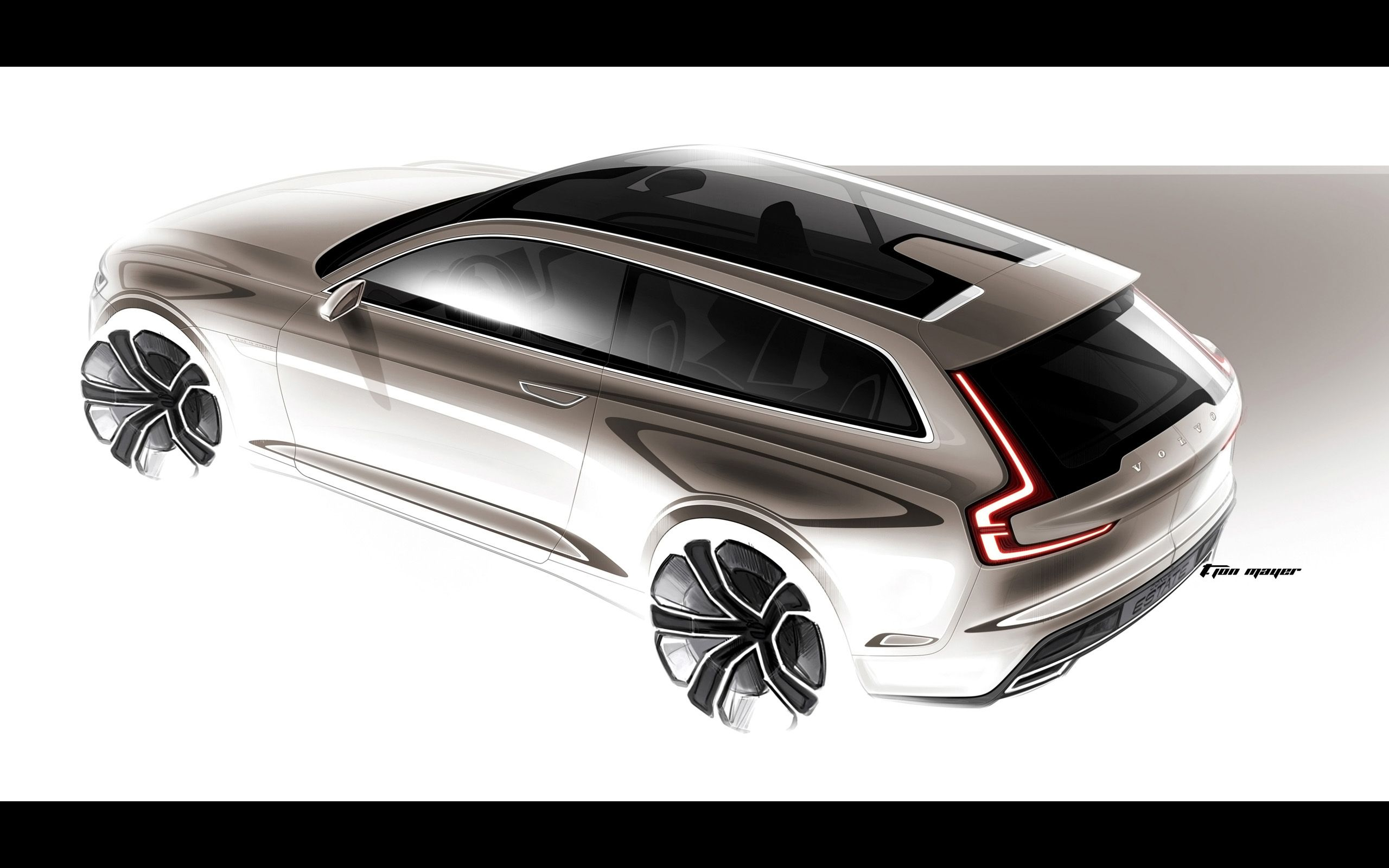 2014 volvo concept estate sketches 7 wallpaper