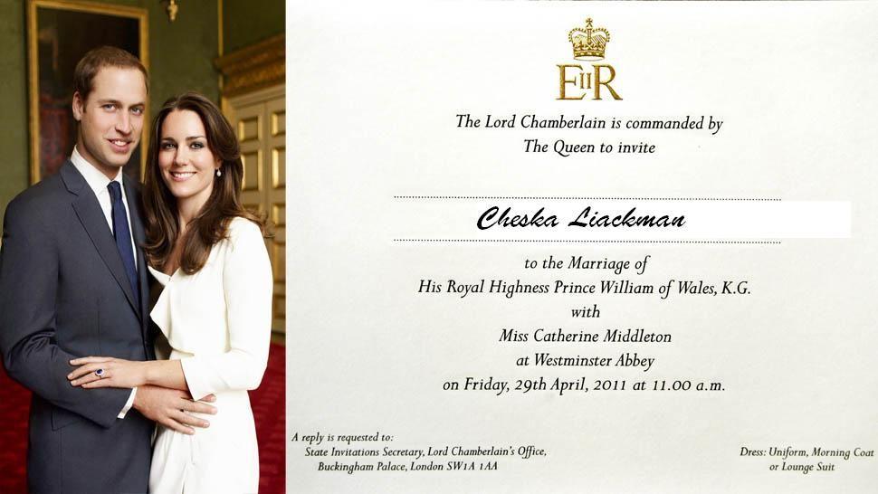 Prince William and Kate Middleton\'s Wedding Invites Prepared ...