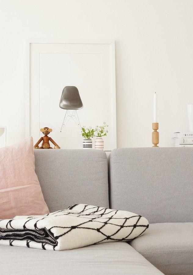 Weiß, schwarz und ein bisschen rosa | Deco interior / styling ...