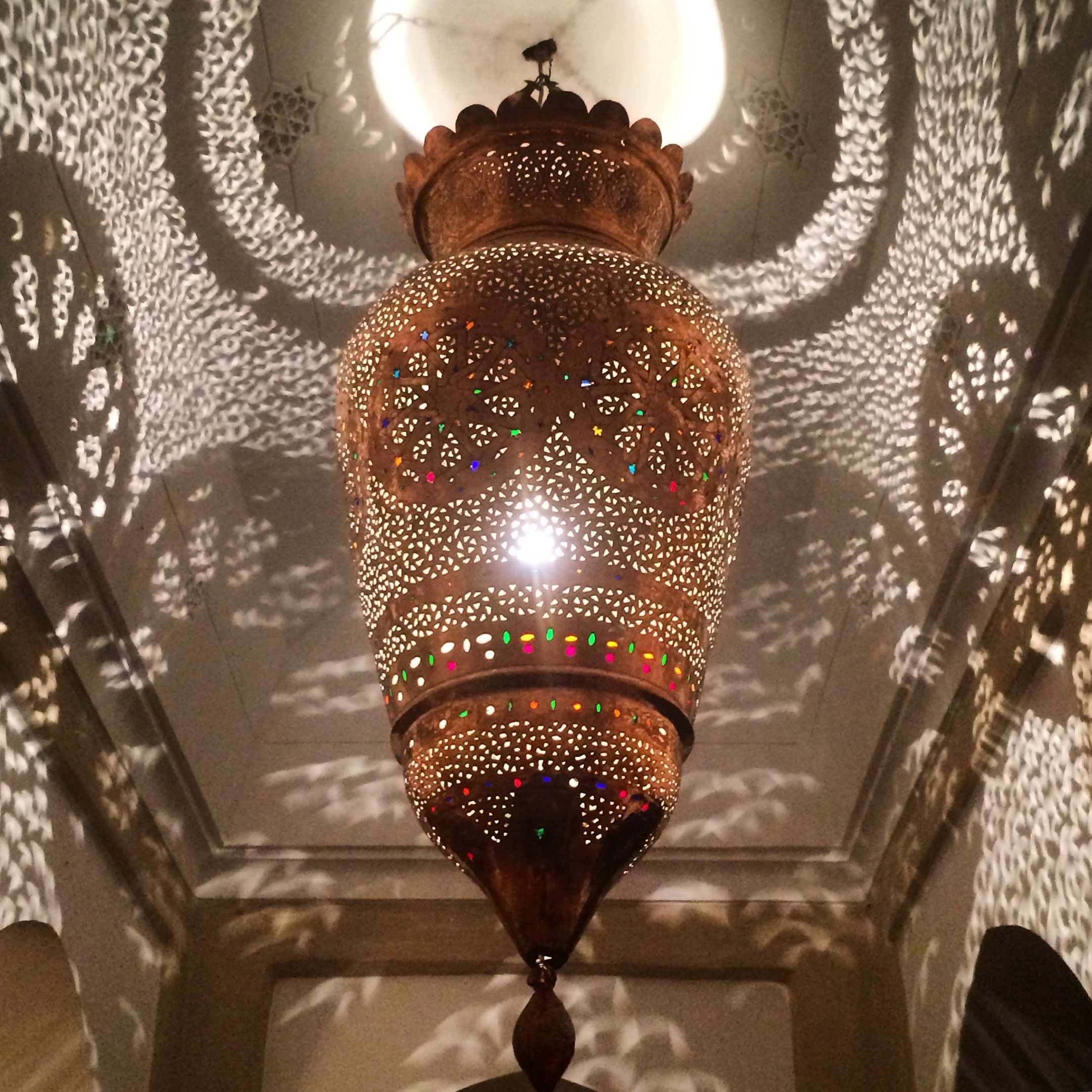 Moroccan Copper Hanging Lamp Zackary