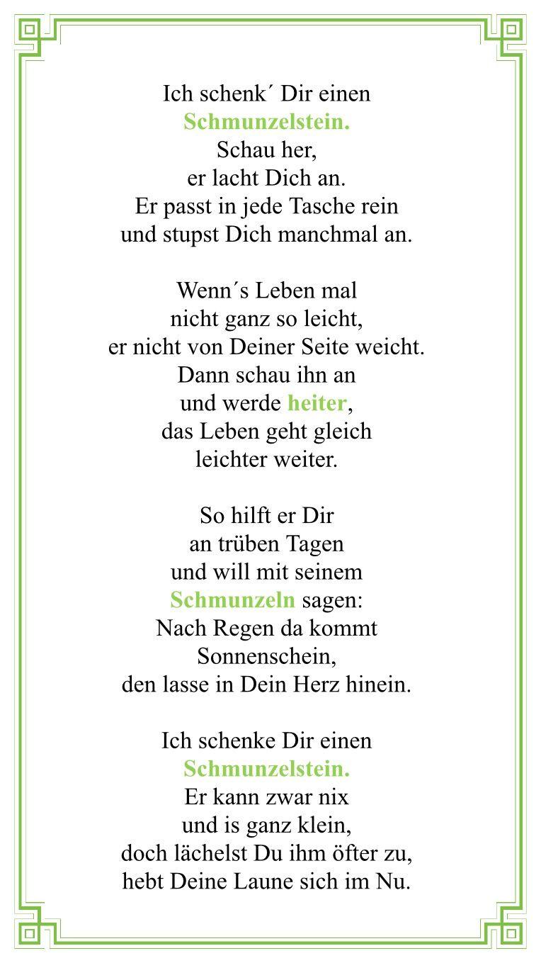 Schmunzelten Gedicht | 34. Geschenke: Geburtstag ...